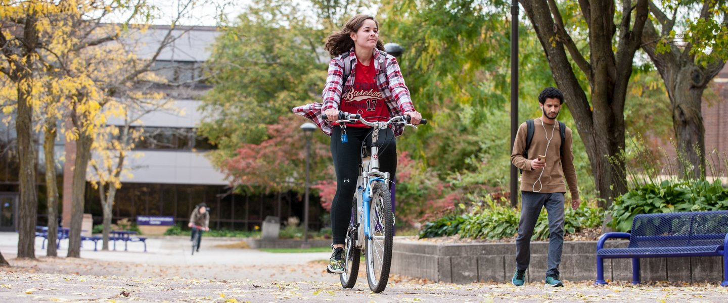Biking on campus